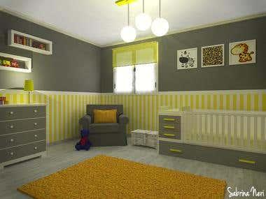Unisex baby room