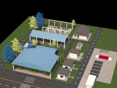 Simple Processing house..Architectural rendering & Cad.