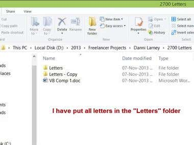 Merge Data from One Word Document to other list of documents
