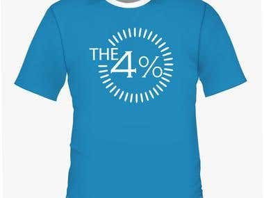 Logo for a new product called The 4%
