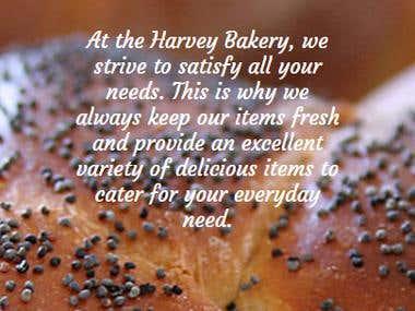 Harvey Bakery website