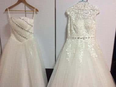wedding dress n fabric