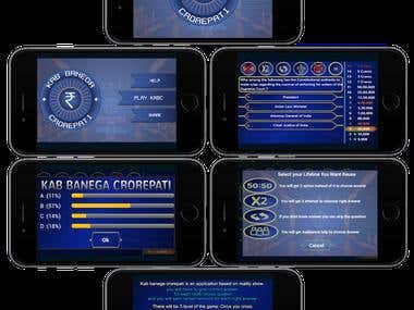 KBC Application(Android, iPhone & iPad)