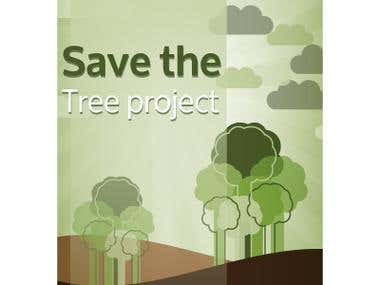 Cover page of save the Tree Project