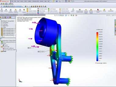 stress analysis Solidworks and Catia