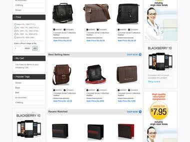 KPS Leathe eCommerce website