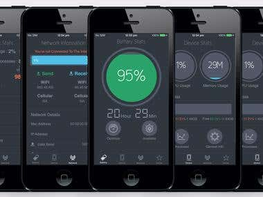 iStats - iPhone Batter Charger, Device & Network Info