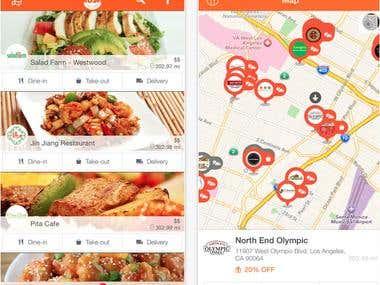 Mobile Order Food Delivery App