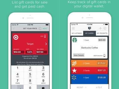 A Gift Card Marketplace iPhone App