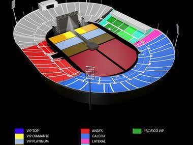 Rock Concert seatings display