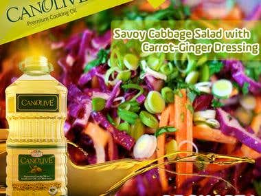 Canolieve Oil Banners for social media.