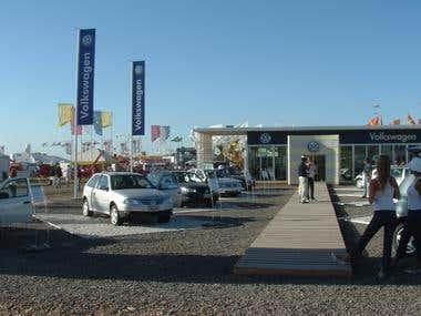 Volkswagen exhibit Stand