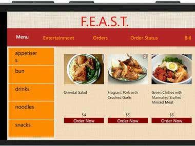 Windows Phone 8.1 App for Restaurant Order System