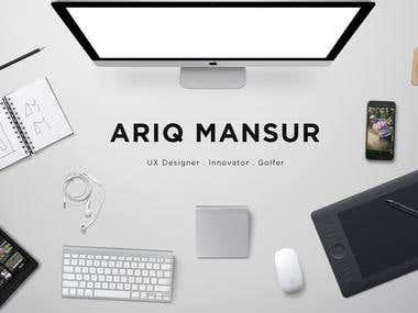 Ariq Mansur Intro Page