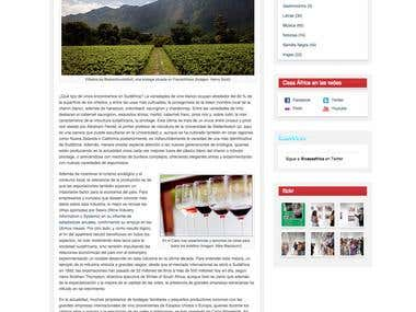 Blogging for Casa Africa - Enology