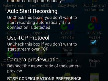 RTSP Streaming and Recording application