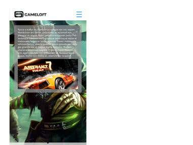 Landing website for Game studio
