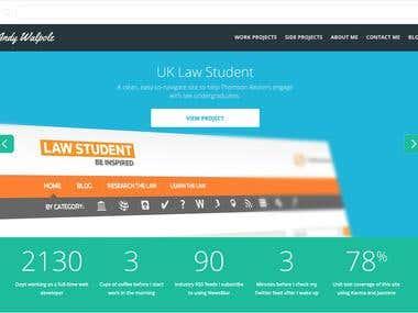 Andy Walpole Website Design