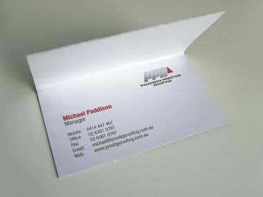 Paddison Prestige Roofing logo & business card design