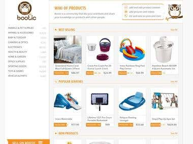 Bootic Web Site