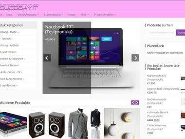 Concept und Design Onlineshop
