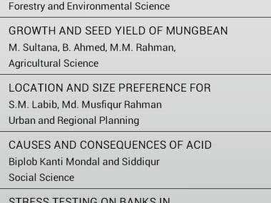 Bangladesh Research Publications