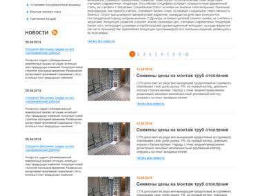 sanitary service - turnkey website