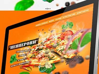 Web site for a Grill restaurant