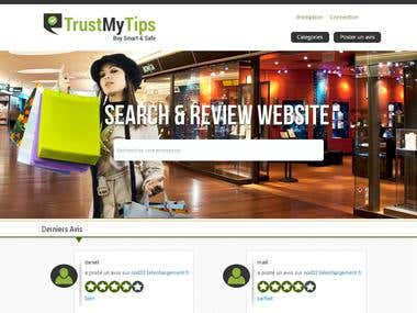 Reviews posting web site