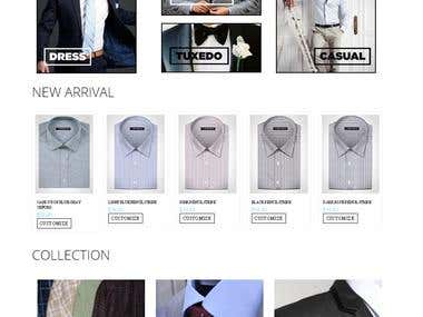 mens fashion site with shirt customization provision