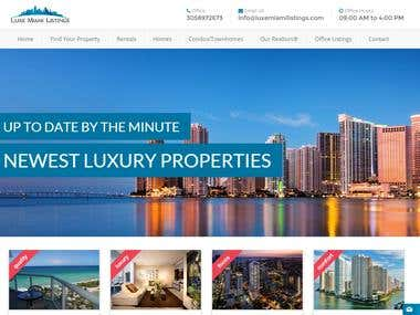 Real estate listings website