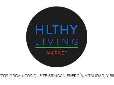 HLTHY LIVING Logo
