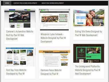 List of some websites I have developed.