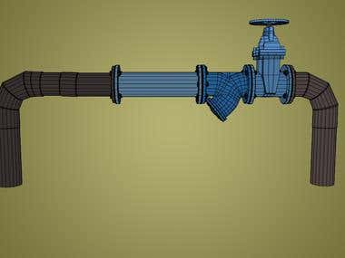 3D Water pipe