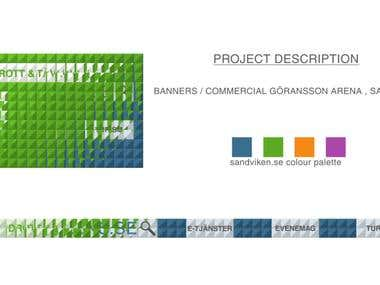 Sandvikens.se Banners / commercial Animation ( LED Screens )