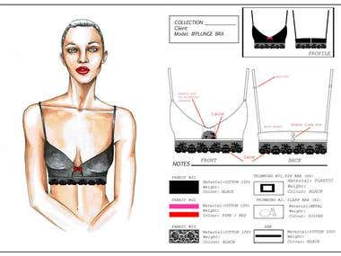 Design of lingerie for British brand
