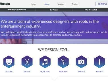 Web Design - StageRaven