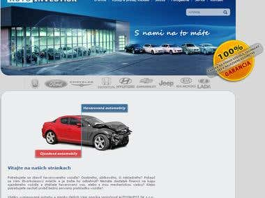 Website for a Slovak car shop - www.autoinvest.sk
