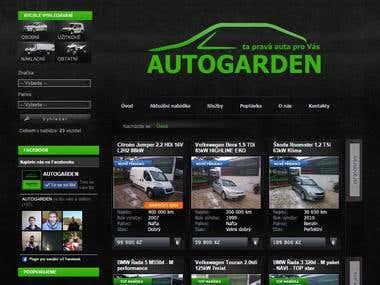 Car dealer website - www.autogarden.cz