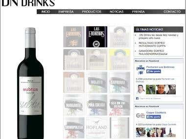Pagina web de DN DRINKS