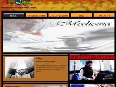 Pagina Web de Asloge (Asesoramiento y logistica Gunieano)