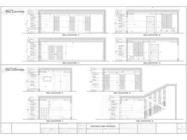 Hotel Lobby Interior (Construction Drawings)