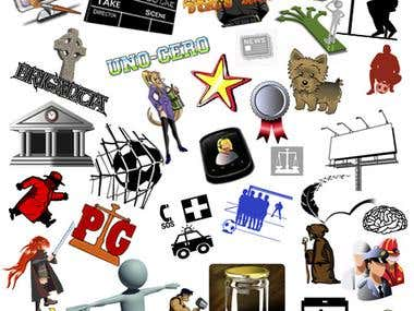 Muestras de logos e iconos