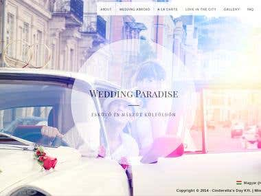 Multilanguage Wedding Website