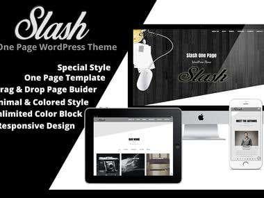 Slash - OnePage WordPress Theme