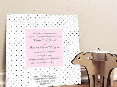 Wedding invitations/ monograms