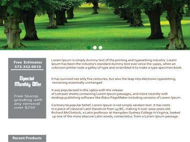 website design for a green website