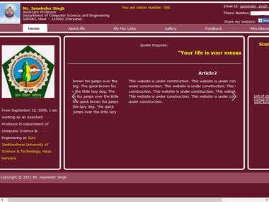 Professor Portfolio Website http://www.jaswindersinghcse.com