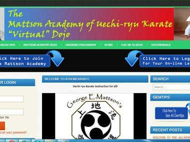 Complete Karate website design and development work