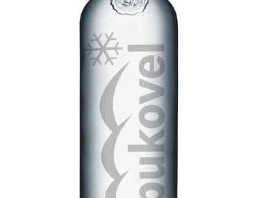 The bottle design. Bukovel